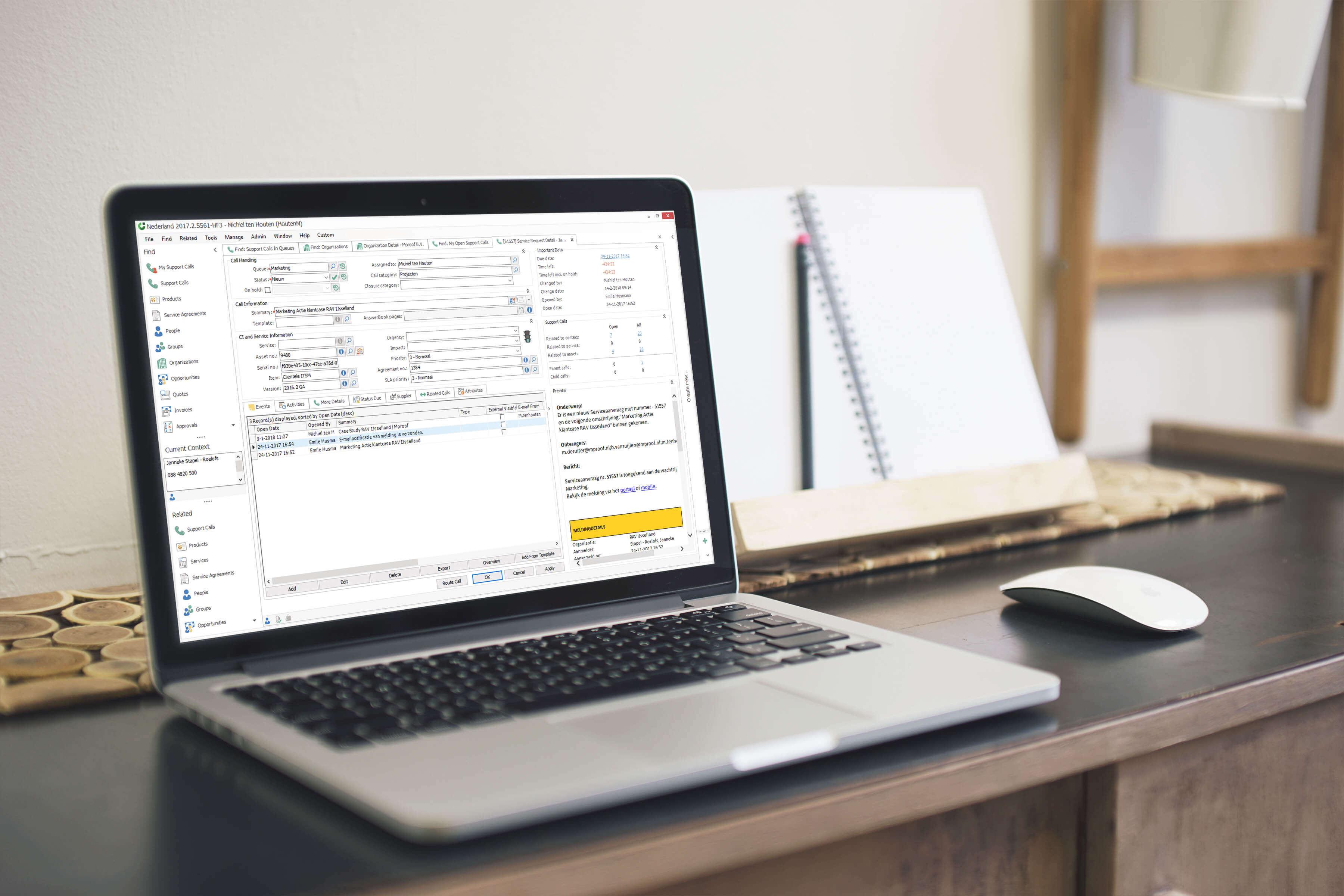 Plan uw ITIL activiteiten in het planboard van onze ITIL-software